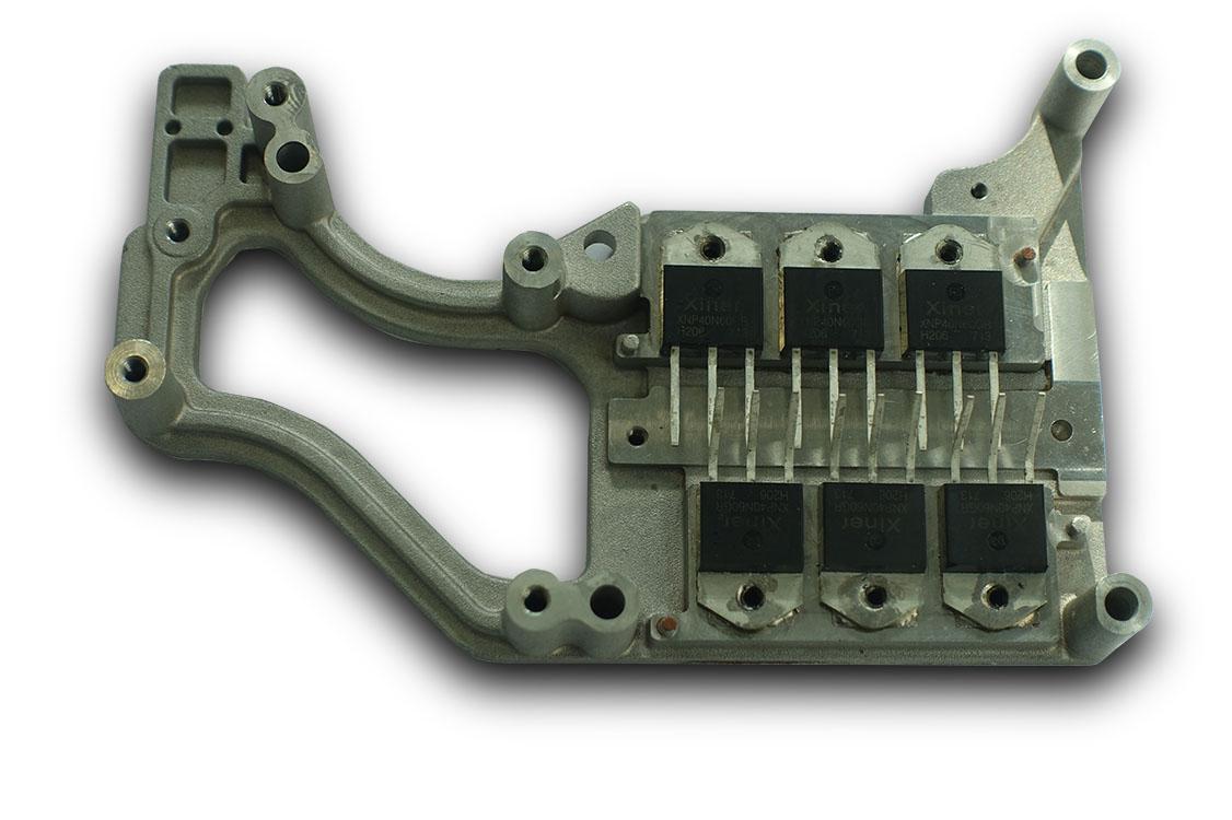 铝制可焊IGBT单管散热模组